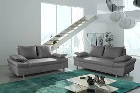 ensemble de canapé ensemble canapé fixe 3 2 places en pvc promethee