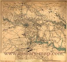 Richmond Virginia Map by War Map Of Richmond And Petersburg