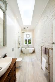 best ideas about narrow bathroom pinterest small this renovated bathroom incorporates modern staples into themed space avoid dated aesthetic