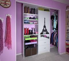 nice closets beautiful cute purple pink girls closet organizer storage design