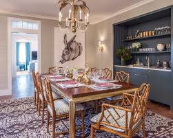 Nantucket Beach House Dining Room Tropical With Leopard Print - Animal print dining room chairs