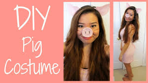 diy pig costume youtube