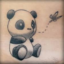 simple panda bear tattoo tattoomagz