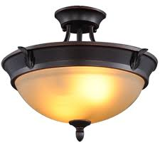 Flush Ceiling Light Fixtures Hampton Bay 2 Light Bronze Semi Flush Mount Light S351ju02 The