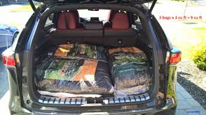 lexus es 350 trunk space cargo capacity 28 cu ft the proof is in the
