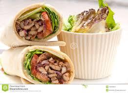 arabic wrap kafta shawarma chicken pita wrap roll sandwich stock images