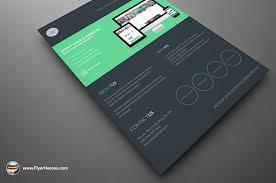 dark web design services flyer template on behance