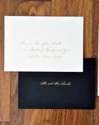 wedding calligrapher inner envelope left handed calligrapher