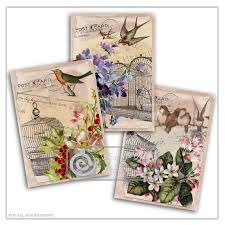 aceo cards for sale sale collage sheet birds and blooms atc cards aceo cards