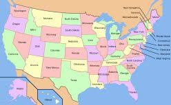 united states of america map with states and capitals usa united states of america