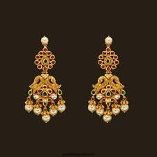 earing models gold earring designs from kalyan jewellers south india jewels