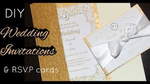 Wedding Invitation Card Diy Diy How To Make Elegant Gold Wedding Invitations U0026 Rsvp Cards