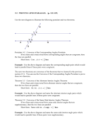 Same Side Interior Angles Postulate 3 2 Proving Lines Parallel