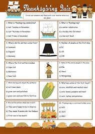 thanksgiving trivia adults thanksgiving quiz worksheet free esl printable worksheets made