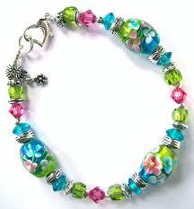 pink glass bead bracelet images Bracelets jewelry bracelet jewelry swarovski glass bead blue jpg