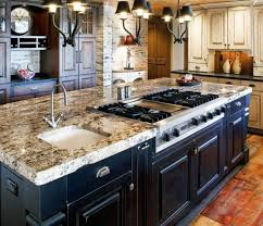 Wooden Country Kitchen - fascinating kitchen islands with sink photo inspiration tikspor