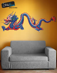 asian decor chinese dragon graphic vinyl wall decal sticker mmartin147