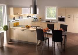 cuisine alu et bois meuble de cuisine blanc brillant avec les joues de finition