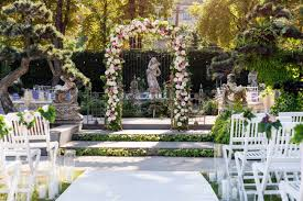 wedding arch garden wedding arch with flowers outdoors beautiful wedding set up