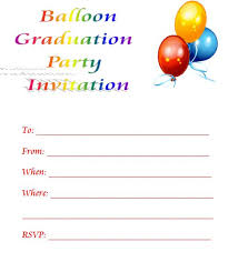 printable invitations balloon printable graduation invitations printable invitation