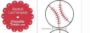 printable baseball card template u2014 printable treats com