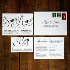wedding invitations glasgow modern script wedding invitation stationery by feel wedding