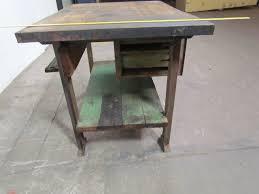 Tall Kitchen Island Table Vintage Industrial Butcher Block Workbench Kitchen Island 48