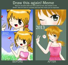 Chan Meme - draw this again meme neko chan by kyupods on deviantart