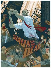 new shaun of the dead mondo poster from rich kelly u2014 geektyrant