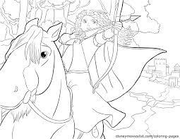 disney u0027s brave merida and angus coloring page disney brave