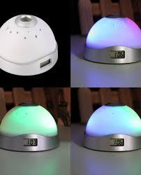 night light alarm clock magic led projection alarm clock night light starry sky star digital