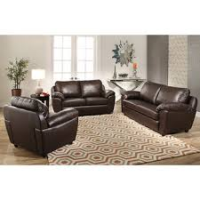 Top Grain Leather Living Room Set Abbyson Living Cosmopolitan 3 Pc Top Grain Italian Leather Living
