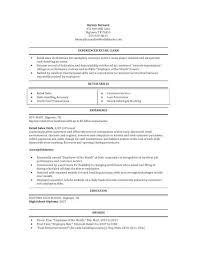 Sample Resume For Retail Store by Sample Resume Retail Store Clerk