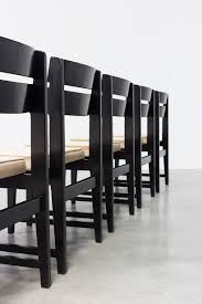 1950 dining room furniture cubist dining chairs set of six belgium made circa 1950