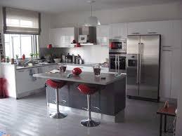 cuisine blanc et noir deco cuisine gris et noir