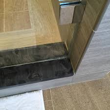 door gap showcase shower door