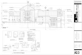 set of construction drawing for custom home synergy architect