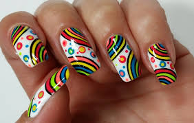 nail summer nail rainbow nails design rainbow