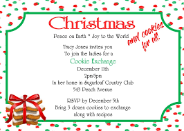 christmas cookie party invitations christmas cookie party invitations new selections for 2017