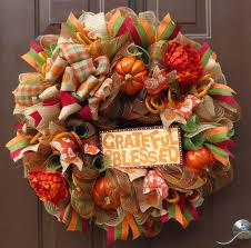 Thanksgiving Deco Mesh Wreaths 42 Best Fall Thanksgiving Wreaths Images On Pinterest