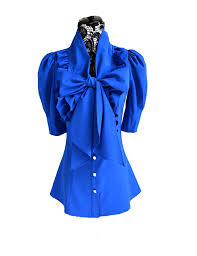 big bow blouse ruffle big bow collar puff sleeves blouse tops shirts prettyguide