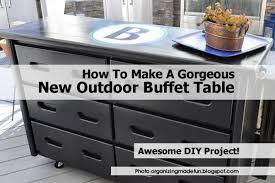 how to make a buffet table outdoor buffet2 organizingmadefun jpg