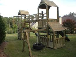 playset fort plans home u003e u003e walkway bridge u0026 swing set diy