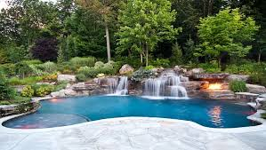 Waterfall Design Ideas Stunning Swimming Pool Designs With Waterfalls Images Decorating