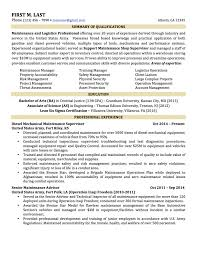 Military To Civilian Resume Templates Download Military To Civilian Resume Examples