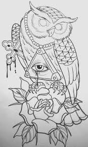 owl illustration tattoo ideas pinterest owl illustrations