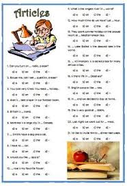 a worksheet for beginners to practice indefinite articles a an