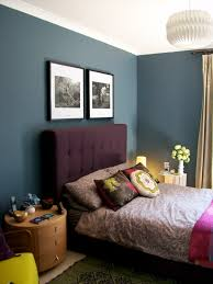 Bedrooms Painted Purple - habitat art frames above bed bedroom wall dulux steel symphony