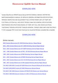 28 1999 yamaha gp800 service manual 104720 2001 yamaha v