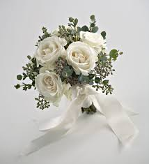 White Rose Bouquet Wedding White Rose Bouquet